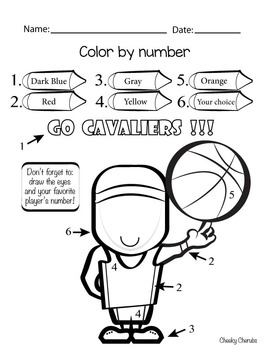basketball nba color by number - Basketball Pictures To Color 2