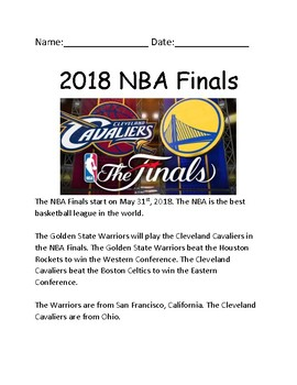 NBA basketball Finals 2018 - lesson review facts information