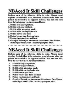 NBAced It Basketball Skill Challenges Activity for Physical Education