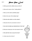 NBC Peter Pan Live! Worksheets