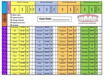 NBDE Part I Study Schedule
