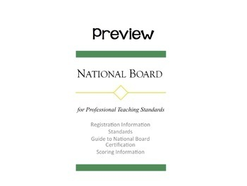 NBPTS Binder Cover and Spine Insert~National Boards~NBCT~***FULLY EDITABLE***