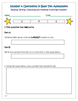 NBT: 2.NBT.A.1 Number & Operations in Base 10:Place Value,Read and Write Numbers