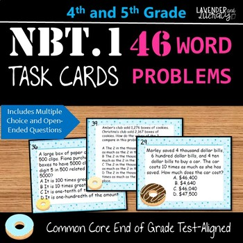 NBT.1 Word Problem Task Cards for Upper Elementary