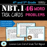 NBT.1 Word Problem Task Cards for Upper Elementary