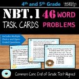 Test Prep NBT.1 Word Problem Task Cards for Upper Elementary