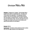 5th grade NBT.2.6 Division Yes or No game!