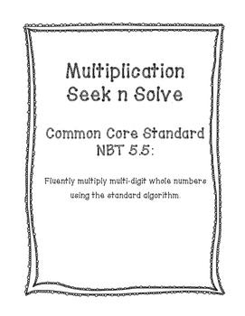 NBT 5.5 Multiplication Seek n Solve