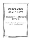 NBT 5.5 Multiplication Seek n Solve