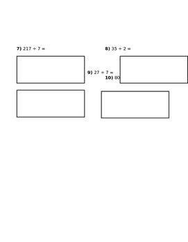 NBT.B Division using Horizontal Area Model