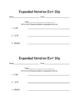 NBT Exit Slips MTSS 5th Grade