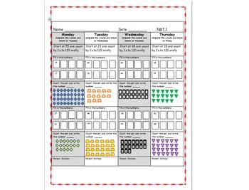NBT Math Common Core Homework NBT.1