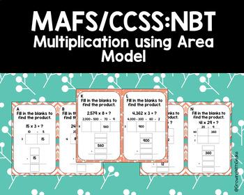 NBT Multiplication Area Model Task Cards