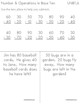 NBT: Number and Operations in Base Ten // First Grade Common Core Math