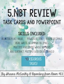 NBT Review BUNDLE - ALL fifth grade NBT standards!