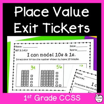 NBT Assessment Pack ~ 1st Grade ~ Common Core ~ Exit Slips