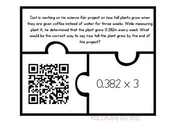 NBT Task Puzzle Piece Cards with QR Codes