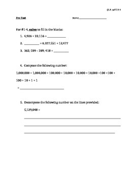 NBT.B.4 Pre-Test (SBAC/ CRT)