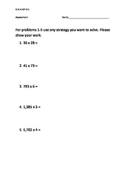 NBT.B.5 Assessment (SBAC/ CRT)