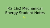 NC 7.P.2.1 Mechanical Energy Student Notes