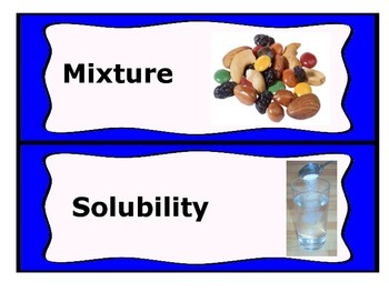 Chemistry Word Wall Cards (NC Grade 8 Essential Science Standards 8.P.1)
