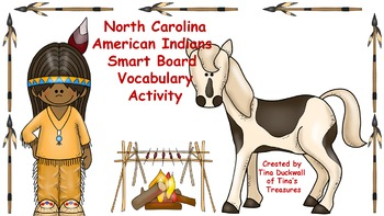 NC American Indians Vocabulary Match Smart Board Activity