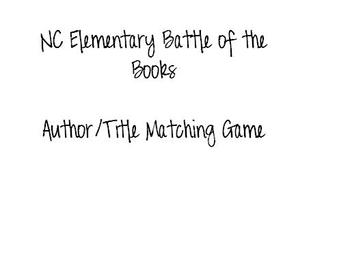 NC Battle of the Books Title/Author Matching