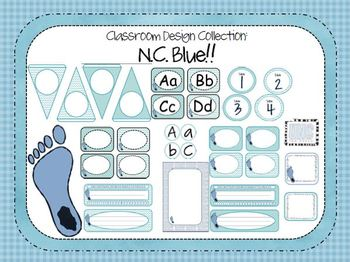 NC Blue Tarheels Mini Set: Classroom Design Collections