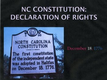 North Carolina Constitution and Declaration of Rights