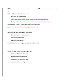 NC EOG Review math