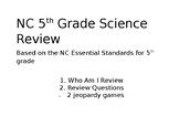 5th Grade NC EOG Science Review Bundle