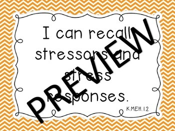 """NC Essential Standards """"I Can"""" Kindergarten COMBO Science, SS, & Health"""