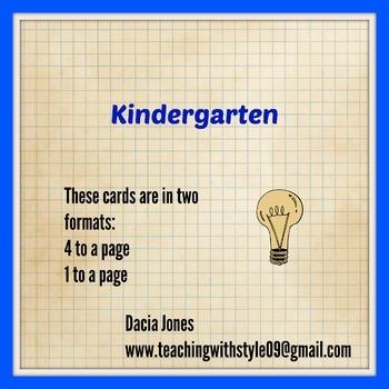 NC Essential Standards Science K-5 Vocabulary Cards