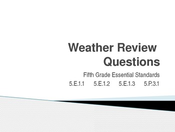 NC Essential Standards - Science Review PowerPoint