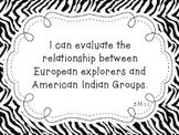 "NC Essential Standards Zebra Fifth Grade Social Studies ""I"