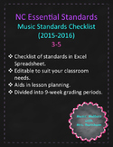 NC Essential Standards for Music 3-5 Checklist