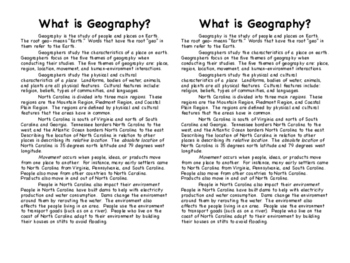 NC Geography Interactive Notebook