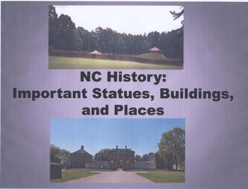 North Carolina Statues, Buildings, and Places