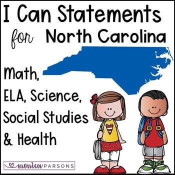 "NC ""I Can"" Posters for 4th Grade - BUNDLE - SS, Science and Health"