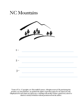 NC Mountain Writing Lesson
