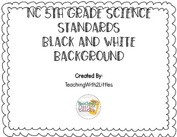 NC Science Standards 5th Grade