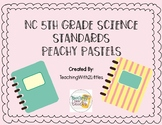 NC Science Standards 5th Grade Pastel Background
