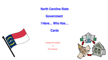 NC State Government I Have...  Who Has... cards