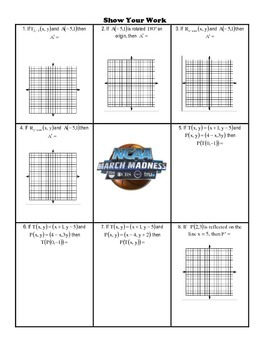 NCAA March Madness 2017 Trivia Puzzle - Transformations as Functions (UPDATED)