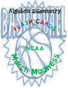NCAA March Madness Flash Cards-Algebra & Geometry