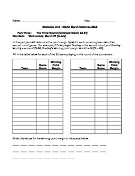 NCAA March Madness Statistics Unit 2013 Preview
