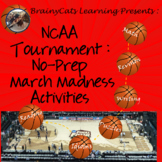 NCAA Tournament 2018:  No-Prep March Madness Reading and Math Activities