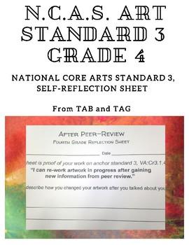 NCAS Art Standard 3, Grade 4 Reflection Sheet