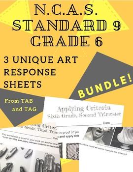 NCAS Art Standard 9, Grade 6 Worksheets