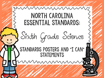 """NCES: Sixth Grade Science Standards and """"I Can"""" Statements"""